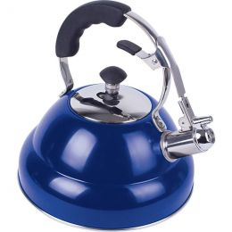 Chef's Secret 2.6 liter Gloss Blue Stainless Steel Tea Kettle