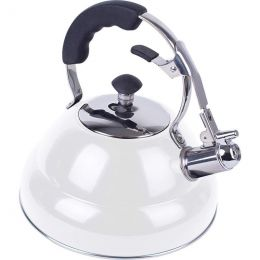 Chef's Secret 2.6 liter Gloss White Stainless Steel Tea Kettle